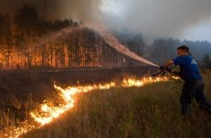 ИНК помогает в тушении лесных пожаров