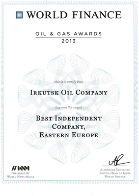 World Finance назвал ИНК лучшей среди независимых нефтедобытчиков