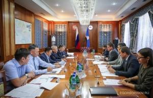 Председатель совета директоров ИНК Николай Буйнов встретился с Главой Якутии Егором Борисовым